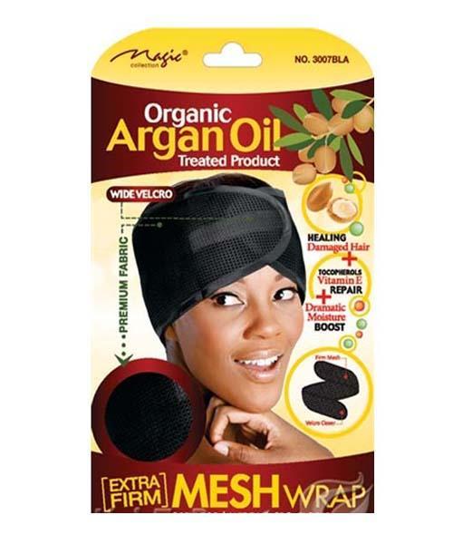 Magic Collection Organic Argan Oil Foam Mesh Wrap Black - 3007blk