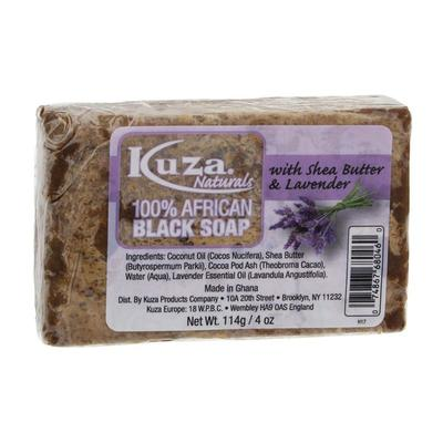 Kuza 100% African Black Soap With Shea Butter & Lavender