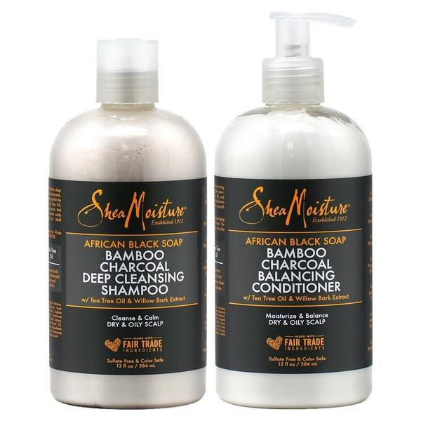 Shea Moisture African Black Soap Shampoo & Conditioner Duo Pack