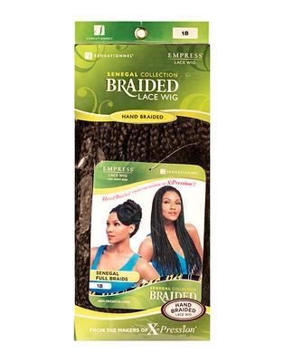 Sensationnel Empress Braided Synthetic Lace Wig - Senegal Full Braids