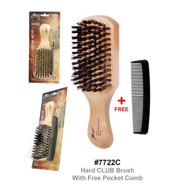 Magic Collection Hard Club Brush With Free Pocket Comb 7722c