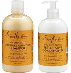 Shea Moisture Raw Shea Butter Moisture Retention Shampoo + Restorative Conditioner Duo Pack