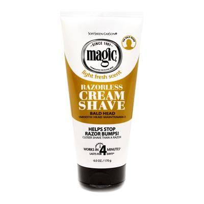 Magic Razorless Cream Shave Smooth For Bald Head Maintenance