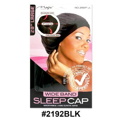 Magic Collection Women's Wide Band Sleep Cap Large 2192blk