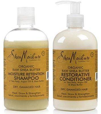 Shea Moisture Raw Shea Butter Moisture Retention Shampoo + Restorative Conditioner Duo Pack