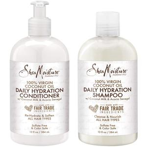 Shea Moisture 100% Virgin Coconut Oil Shampoo & Conditioner Duo Pack