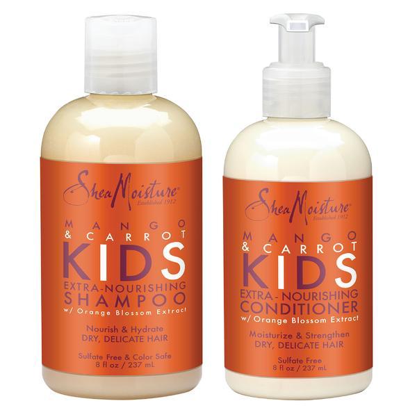 Shea Moisture Mango & Carrot Kids Extra-nourishing Shampoo & Conditioner Duo Pack