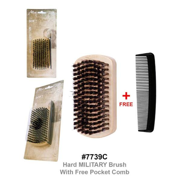 Magic Collection Hard Square Palm Brush With Free Pocket Comb 7739c