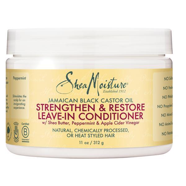 Shea Moisture Jamaican Black Castor Oil Strengthen, Grow & Restore Leave-In Conditioner