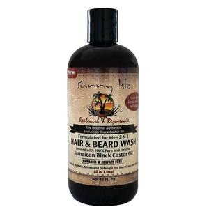 Sunny Isle Jamaican Black Castor Oil Formulated For Men 2-n-1 Hair And Beard Wash