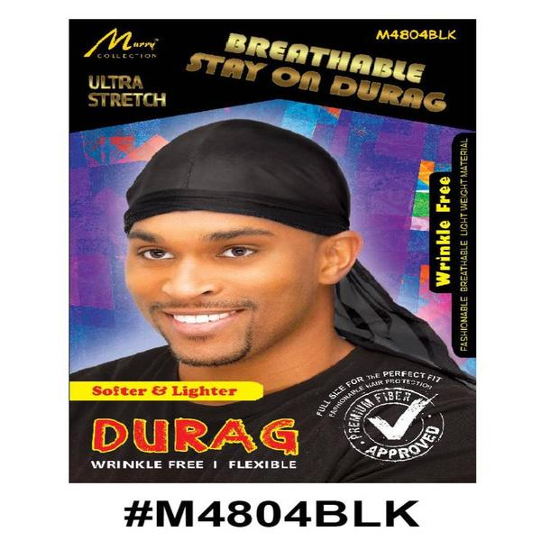 Murry Breathable Stay On Durag Black - M4804blk