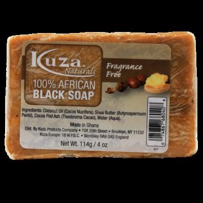 Kuza 100% African Black Soap (fragrance Free)
