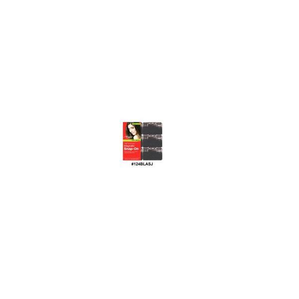 Magic Collection Magnatic Snap-around Rollers Black Super Jambo 124blasj