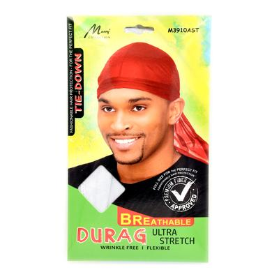 Magic Collection Men's Wrinkle Free Ultra Durag Red ( 3910 )