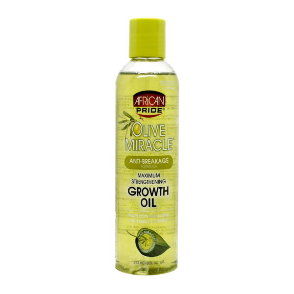 African Pride Olive Miracle Anti-Breakage Maximum Strengthening Growth Oil