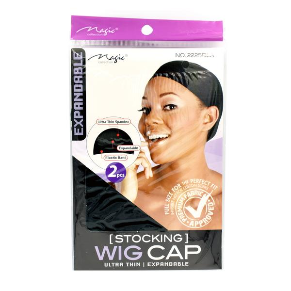 Magic Collection Women's Stocking Wig Cap Black (  2225 )