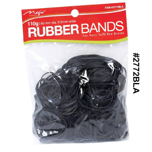 Magic Collection 100g Rubber Bands Black 2772bla