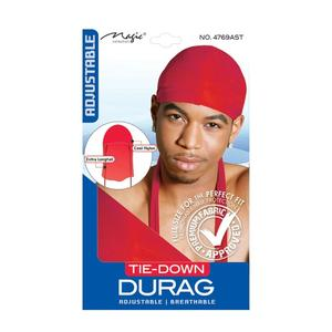 Magic Collection Men's Tie Down Durag Red ( 4769 )