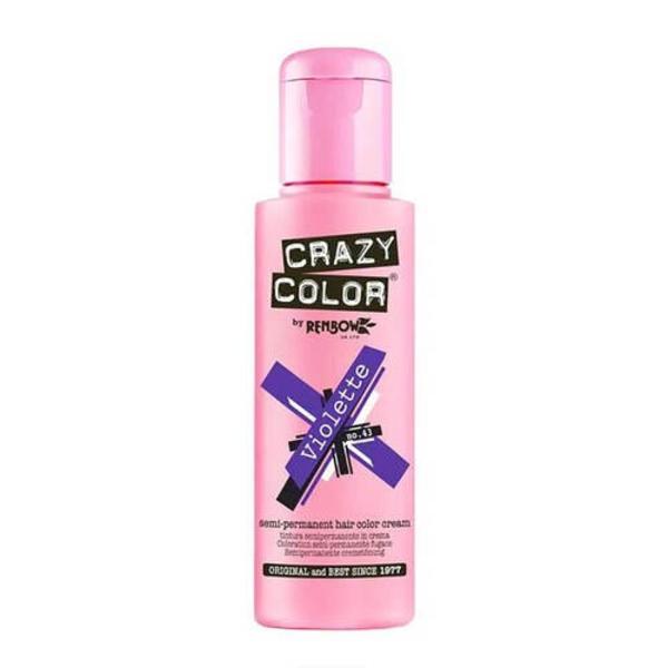 Crazy color Semi-permanent Hair Color Cream (Best Purple Hair Dye)