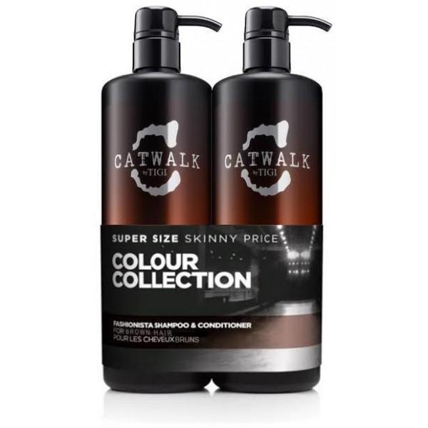 Tigi Catwalk Fashionista Brunette Shampoo And Conditioner Duo Pack