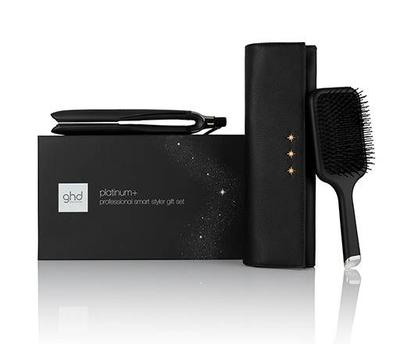 Ghd Platinum + Hair Straightener Gift Set With Paddle Brush & Chic Style Bag (black)