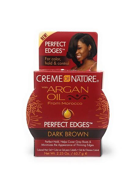 Creme Of Nature Argan Oil Perfect Edges Dark Brown Gel