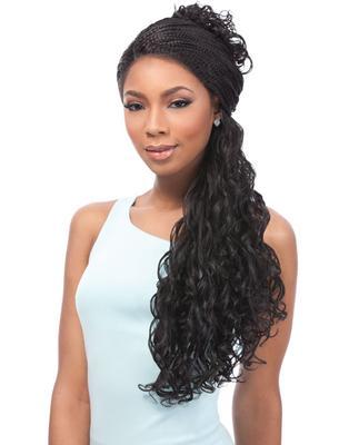 Sensationnel Empress Braided Synthetic Lace Wig - Senegal Loose Deep