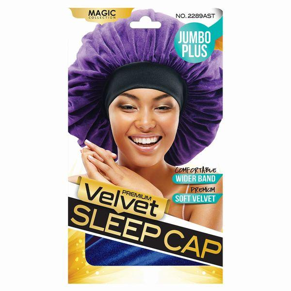 Magic Collection Jumbo Plus Velvet Sleep Cap - 2289ast
