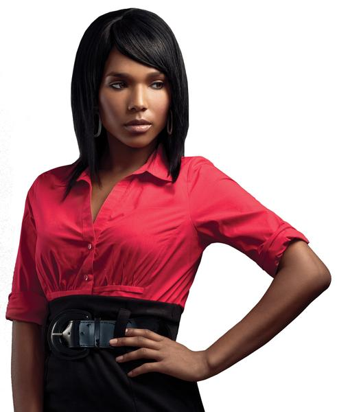 Sleek 100% Human Hair Wig Platinum