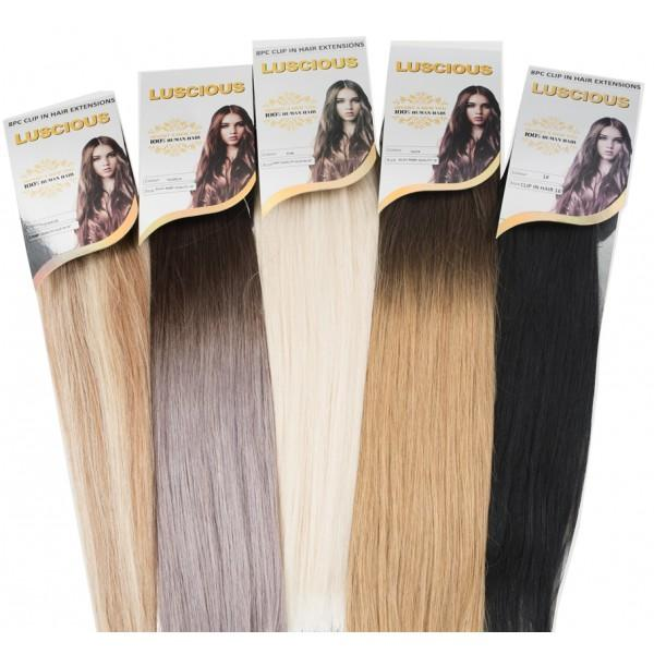 Luscious 8pcs Clip In Human Hair Extension