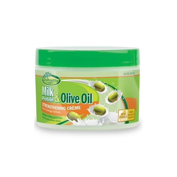 Sof N' Free Gro Healthy Milk & Olive Strengthening Cream In Jar