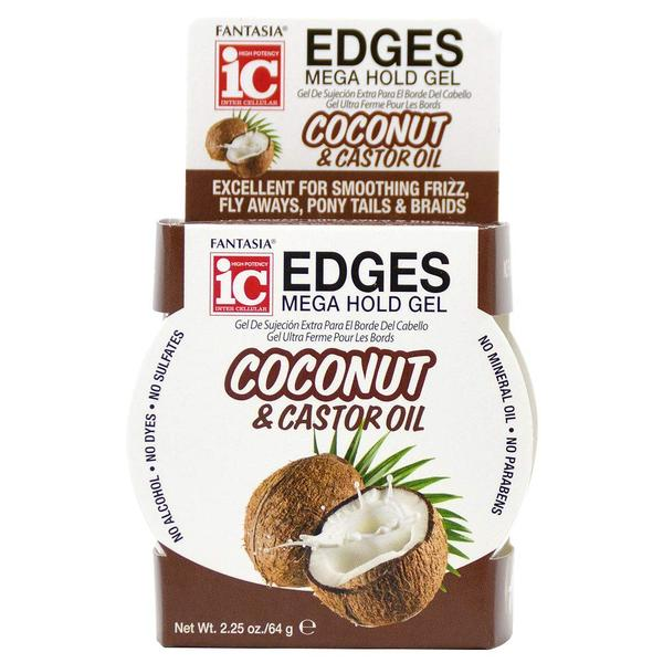 Ic Fantasia Coconut & Castor Oil Edges Mega Hold Gel