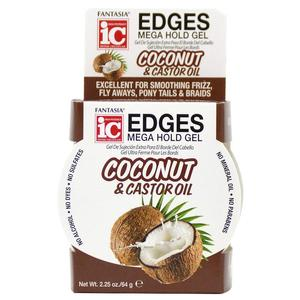 Ic Fantasia Coconut & Castor Oil Edges Mega Hold Gel