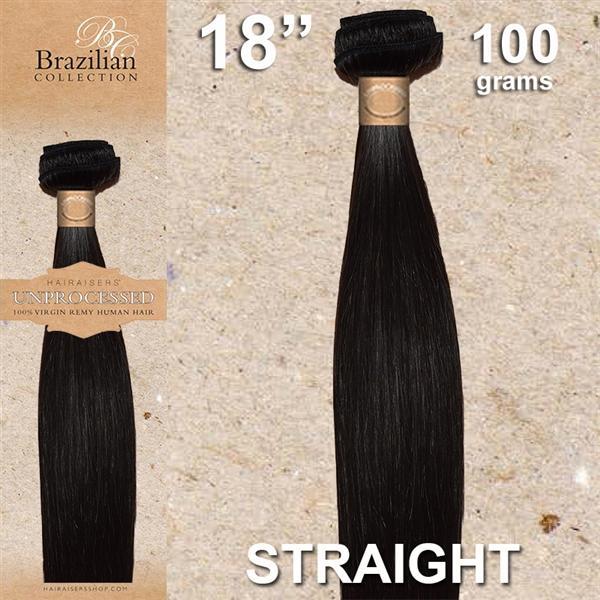 Hairaiser Brazilian Straight Remy Human Hair Weft 100g