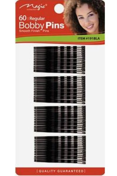 Magic Collection 60 Regular Bobby Pins - 191blk