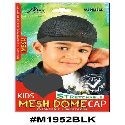 Murry Kids Mesh Dome Cap Black - M1952blk