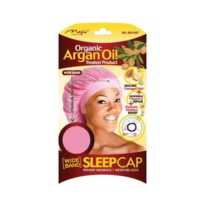 Magic Collection Organic Argan Oil Wide Band Sleep Cap Assorted Color - 3001ast