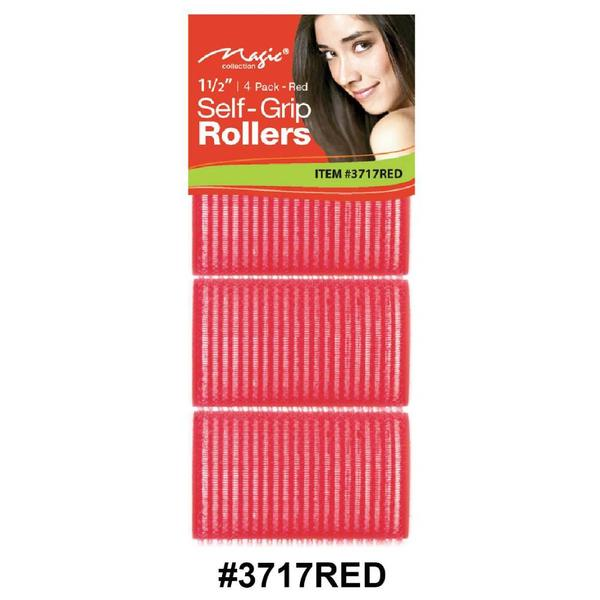 Magic Collection Self-grip Rollers 4pc 3717red