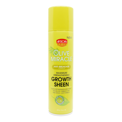 African Pride Olive Miracle Maximum Strengthening Growth Sheen