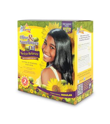 Sof N' Free N' Pretty Olive & Sunflower Oil Single Kids Relaxer