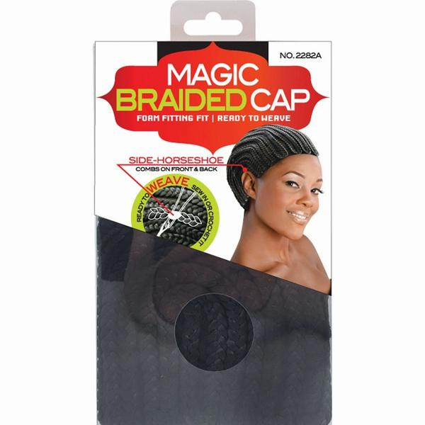 Magic Collection Side Horseshoe Braided Cap -2282a